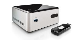 "Intel® NUC Kit DN2820FYKH Duo Core Support 2.5"" HDD 1x HDMI USB3 Gigabit LAN Wi-Fi"