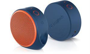 Logitech X100 (984-000379) Mobile Wireless Speaker - Blue/Orange