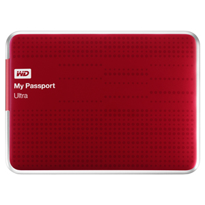 "1TB WD 2.5"" My Passport Ultra USB3.0 Portable Hard Drive - Red"