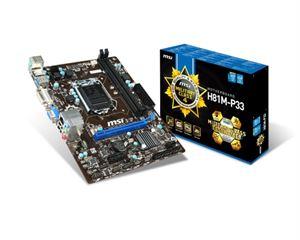 MSI H81M-P33 Socket LGA 1150 mATX Motherboard