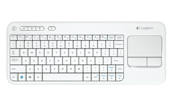 Logitech K400R (920-005888) Wireless Keyboard with Touch Pad - White