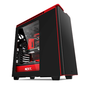 Picture of NZXT H440 MIDI Tower Case - Black & Red