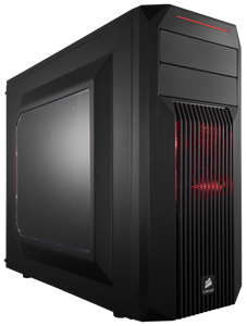 Carbide Series® Spec-02 Red LED Mid-Tower Gaming Case