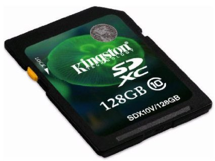 Kingston 128GB SDXC Class 10 Flash Card