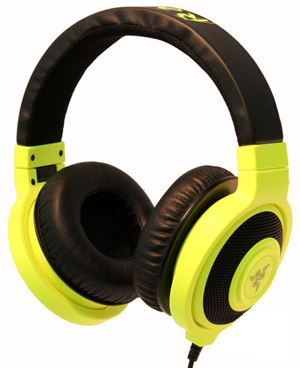 Picture of Razer Kraken Neon Headphones Yellow 1.3M Cable Length