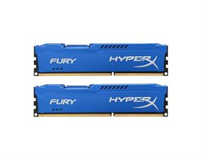 8GB (4GBx2) Kit Kingston Hyper X DDR3-1600 CL10 240-Pin DIMM Blue