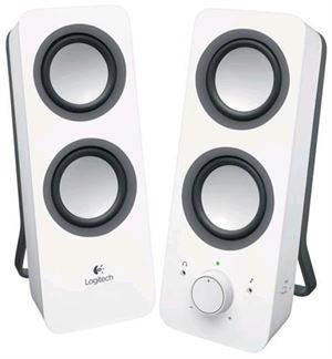 Logitech Z200 Multimedia Speakers (Snow White)