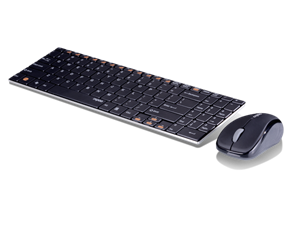 Rapoo 9060 2.4G Wireless Mouse And 2 Block Metal Keyboard Set Blade Series