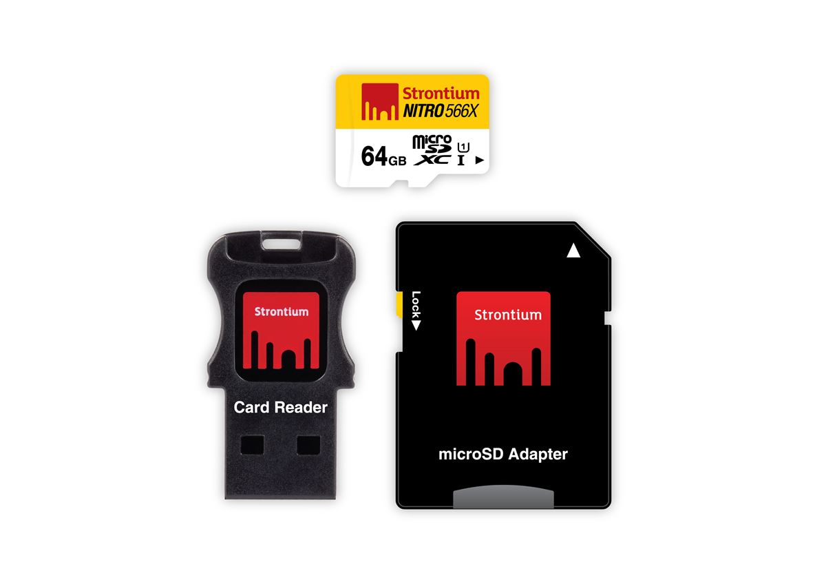 64GB Strontium Nitro Plus Series Micro SD Card With Adapter