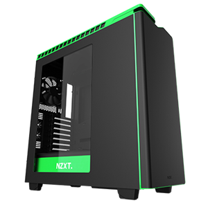 NZXT H440 Mid-Tower Case Matte Black/Green