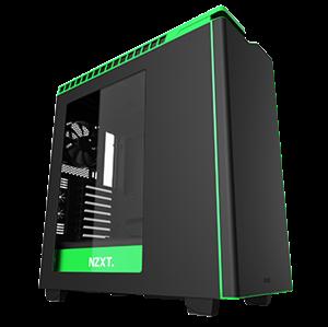 NZXT H440 Mid-Tower Case Matte Black/Green