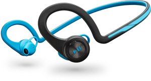 Plantronics Backbeat Fit Blue, Behind The Head, Wireless Headphones + Mic & Carry Case