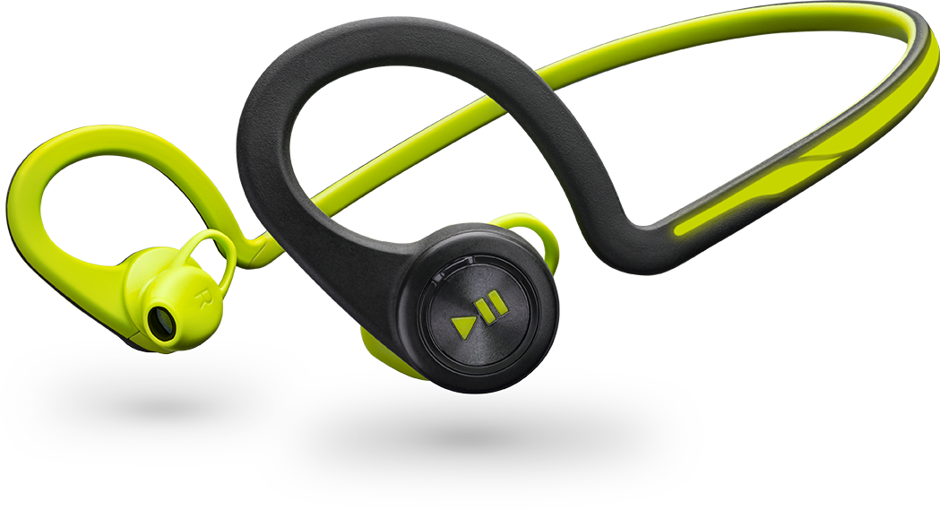 Plantronics Backbeat Fit, Green, Behind The Head, Wireless Headphones + Mic & Carry Case