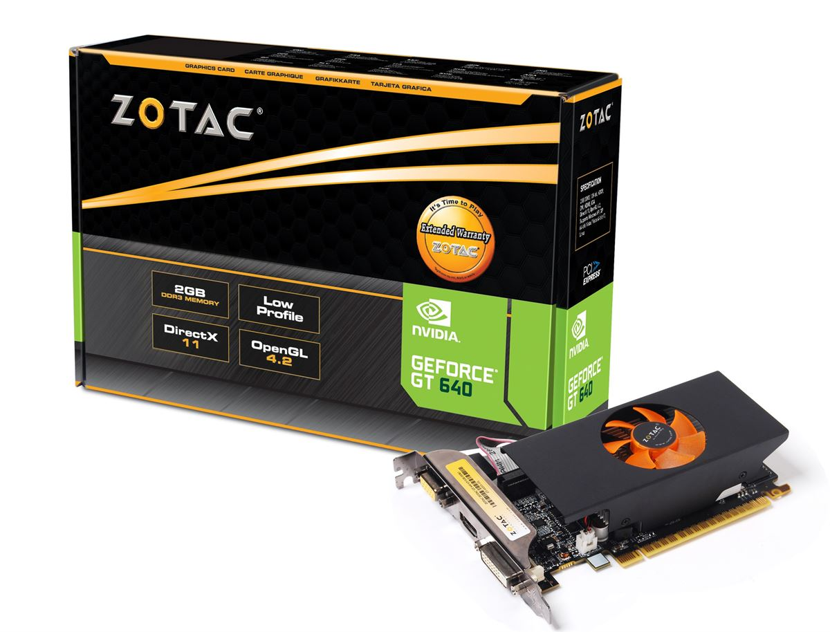 Zotac GeForce GT 640 2GB GDDR3 Low Profile Graphics Card