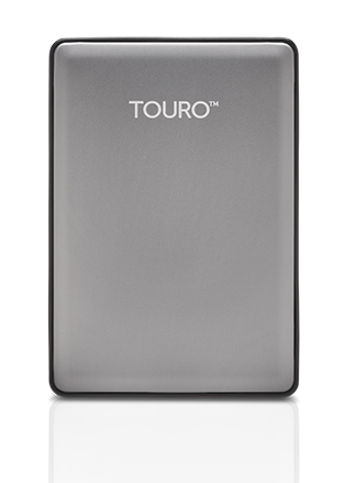 1TB Hitachi Touro S Grey Premium Aluminium Ultra-Portable USB3.0 7200RPM External Hard Drive