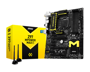 Picture of MSI Z97 MPOWER Max AC ATX High End Gaming Motherboard Built for Overclocking