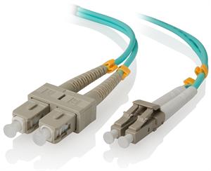 Alogic 1 Meter LC-SC 10G Multi Mode Duplex Fibre Cable 50/125