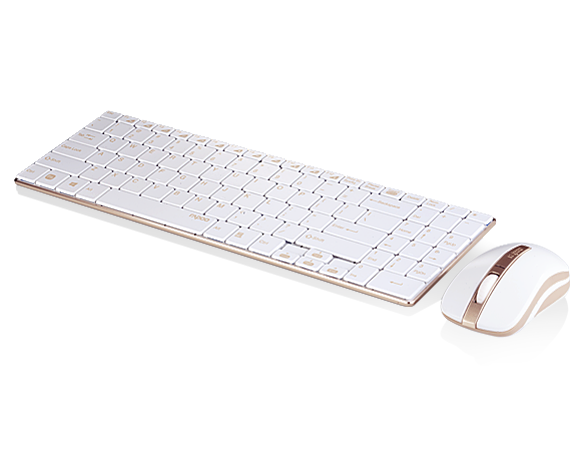 Rapoo 9160 Wreless Optical Keyboard & Mouse Combo - Golden