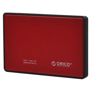 "Orico 2.5"" USB 3.0 Tool-less Hard Drive Enclosure, Red"