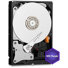 "Western Digital 4TB Purple 3.5"" Internal Hard Drive WD40PURX"