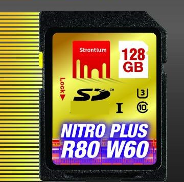 128GB Strontium Nitro Plus Series 80MB Read/40 MB Write SD Card