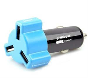 Mbeat Blue 4.8A/24 Watt Triple USB Port Car Charger