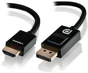 Alogic 2m Display Port to HDMI Cable - Male to Male