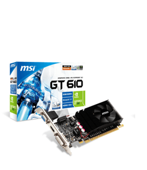 MSI GeForce GT 610 2GB GDDR3 Low-Profile Graphics Card