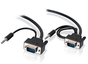 Alogic 5 Meter VGA + 3.5mm Stereo Audio M/M Monitor Cable