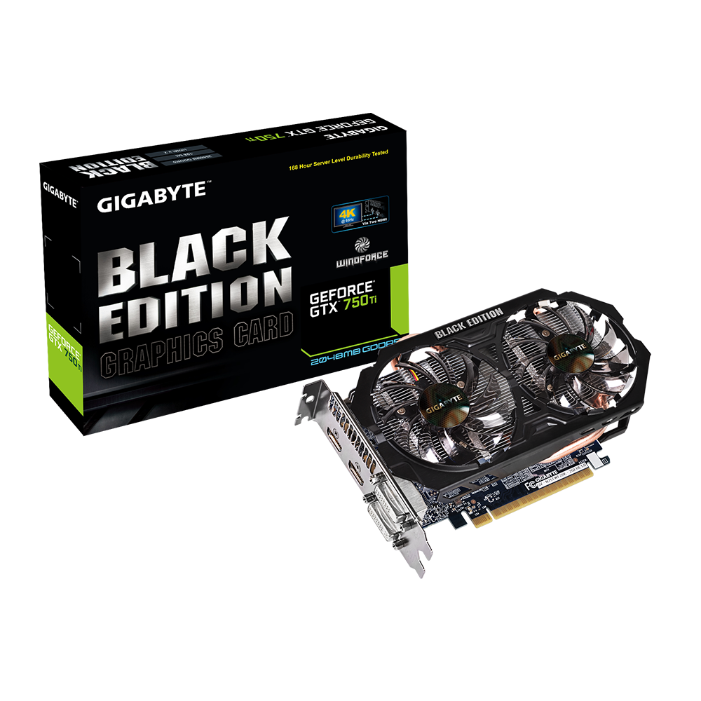 Gigabyte GeForce GTX 750Ti Black Edition 2GB GDDR5 Graphics Card