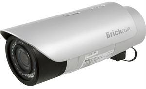 Brickcom Outdoor PoE Network Camera - 1 Megapixel, IR, SD Card, 2 Way Audio With Bracket