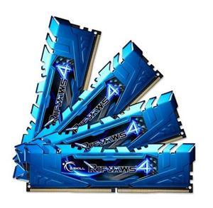 G.Skill Ripjaws4 16GB (4x4GB) 2400MHz DDR4 Quad-Channel Blue F4-2400C15Q-16GRB