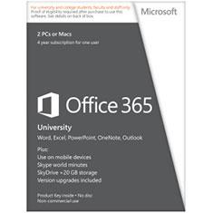 Microsoft Office 365 University 32-BIT X64 4 Year English Subscription Medialess