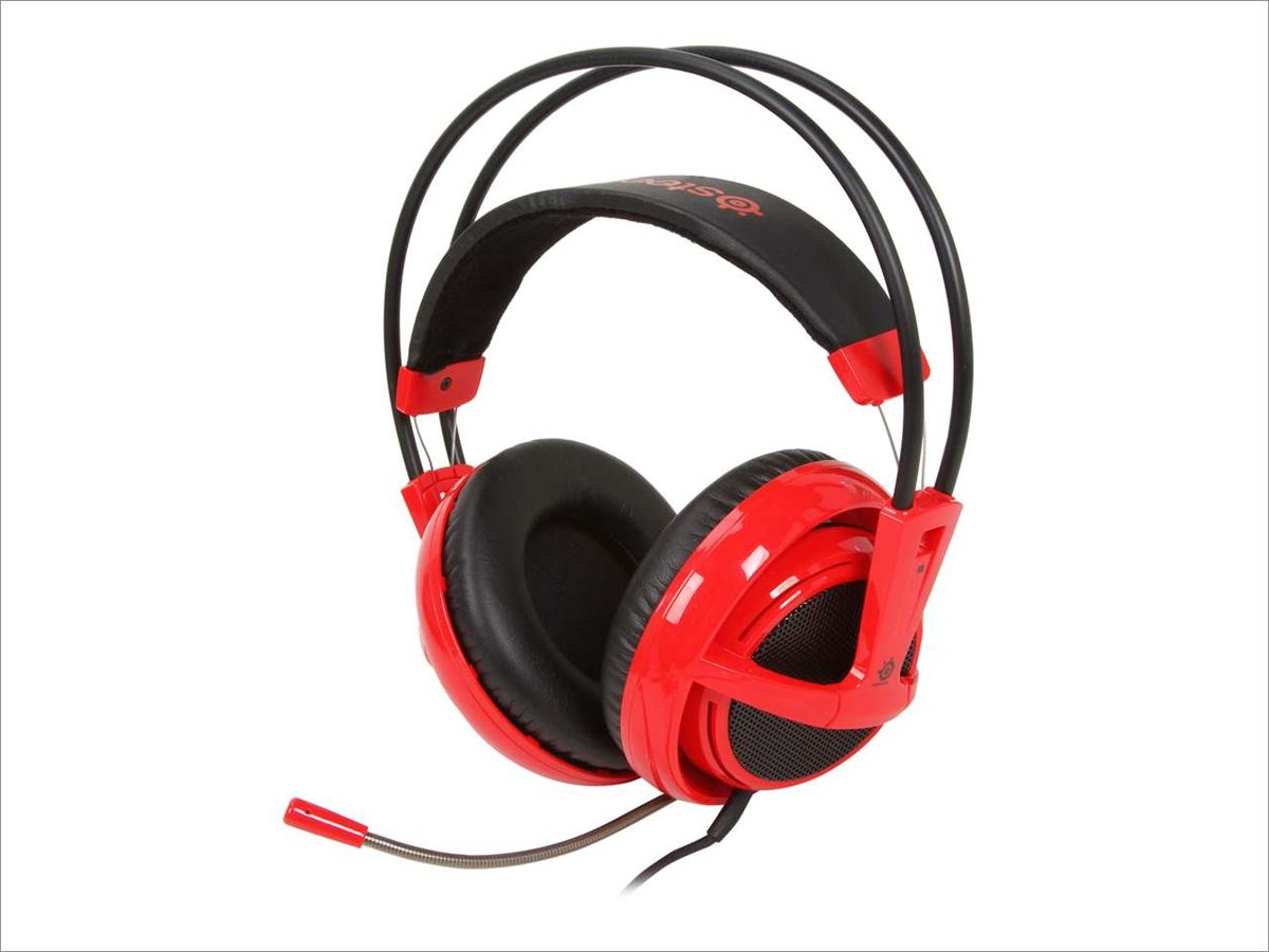 Steelseries Siberia V2 Full-Size Headset Red/Black