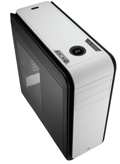 Aerocool DS 200 Black/White Edition Mid-Tower Case With Window