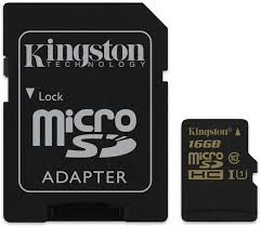 Kingston 16GB Micro SDHC Class 10 UHS-I SD Card