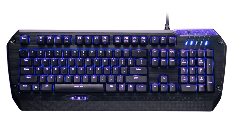 Tesoro Lobera Supreme G5NFL Full Color Backlit Mechanical Gaming Keyboard - Brown Switch