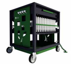PCLOCS  Revolution ECO Trolley 28 Bay- 53mm bay Green