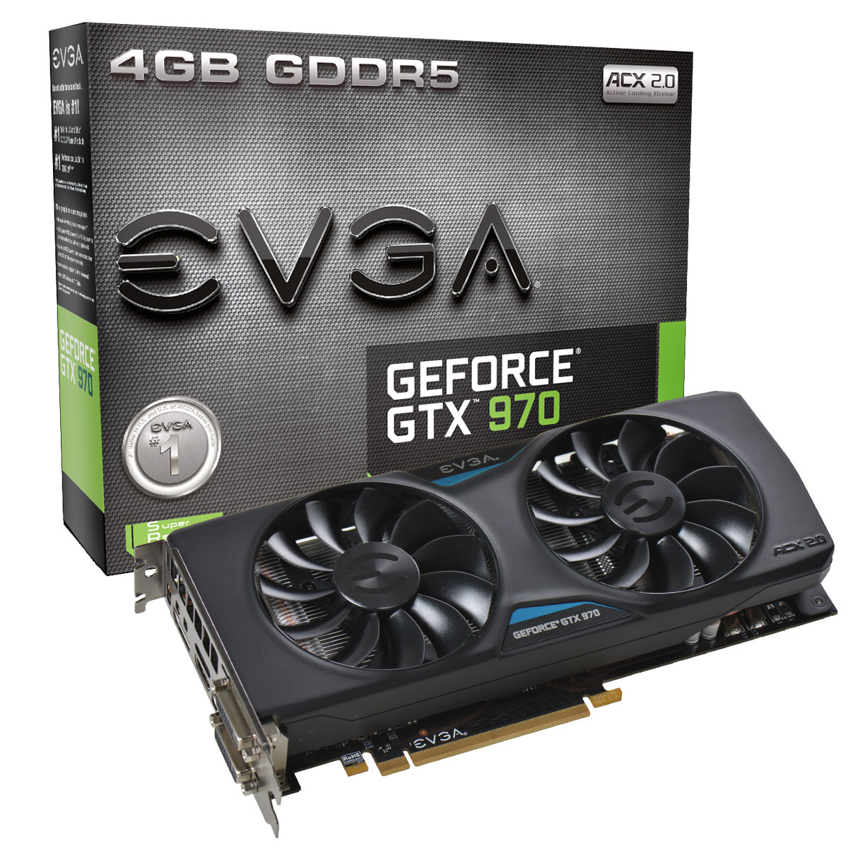 EVGA GeForce GTX 970 ACX 2.0 Cooler 4GB GDDR5 Graphics Card