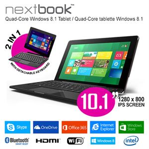 "Picture of 10.1"" Nextbook 32GB/Windows 8.1 Intel Quad Core with HDMI Output Tablet PC"