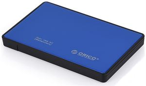 "Orico 2.5"" Tool-Free Hard Drive Enclosure With USB 3.0 Interface - Blue"