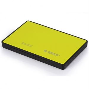 "Orico 2.5"" Tool-Free USB3.0 Hard Drive Enclosure - Yellow"
