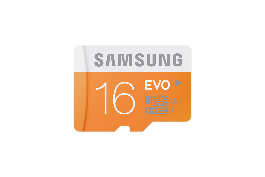 Samsung 16GB Evo Micro SDHC Memory Card