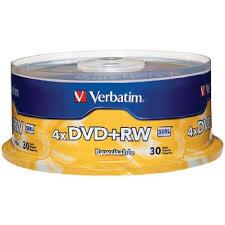 Verbatim DVD+RW  4X Speed 30PK Re-Writable