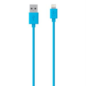 Belkin 1.2M iPhone 5 Lightning Sync/Charge Cable- Blue