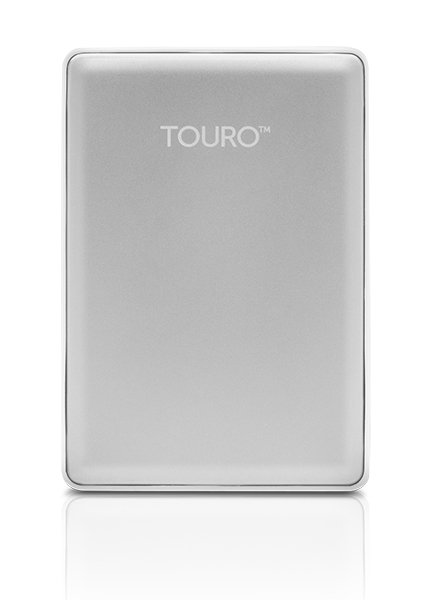 "500GB Hitachi Touro S 2.5"" Premium Ultra-Portable HDD -USB3.0 Silver"