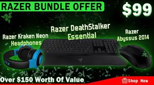 Razer Essential Keyboard + Mouse + Headphone Bundle