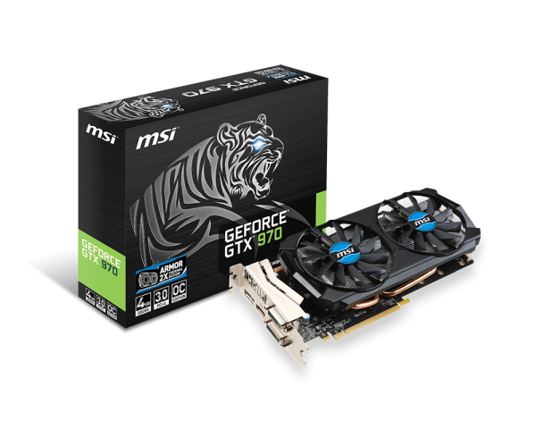 MSI GeForce GTX 970 4GB GDDR5 Graphics Card