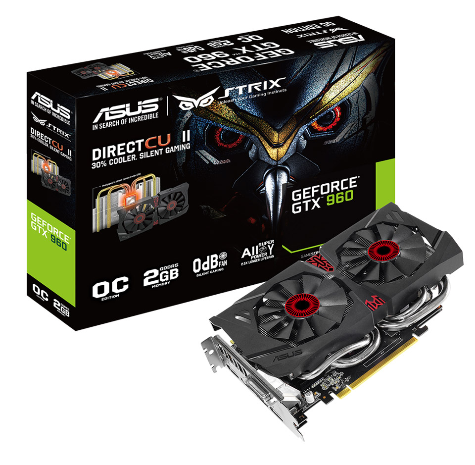 Asus GeForce GTX 960 2GB Strix 2GB GDDR5 Graphics Card