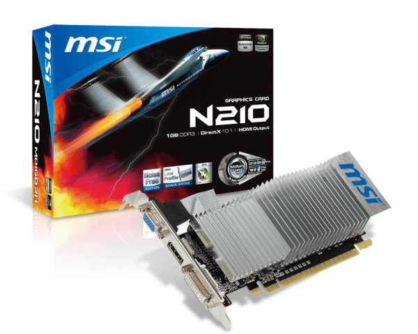 MSI GeForce GT 210 1GB GDDR3 Graphics Card